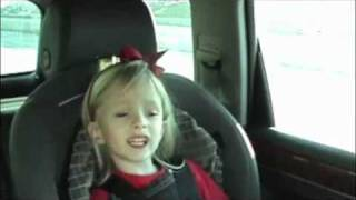 This little girl is singing going The Distance by Cake