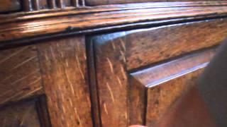 Queen Anne Oak Dresser Base