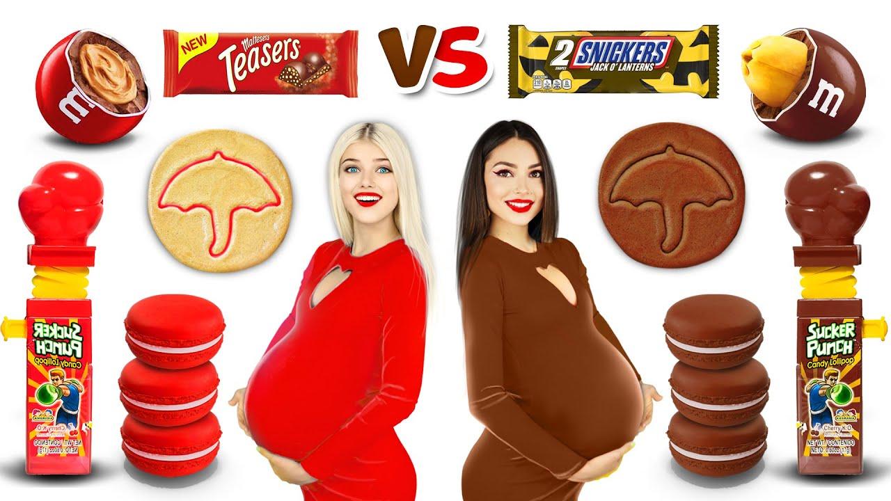 Download Rich Pregnant VS Broke Pregnant Chocolate Challenge | Epic Rich VS Poor Pregnancy Stories by RATATA