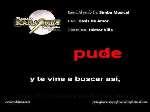 Karaoke Éxito de Simba Musical OASIS DE AMOR