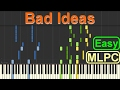 Alle Farben Bad Ideas Easy Version I Piano Tutorial By MLPC mp3
