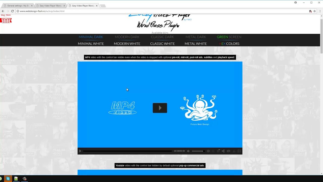 Easy Video Player Wordpress Plugin tutorial