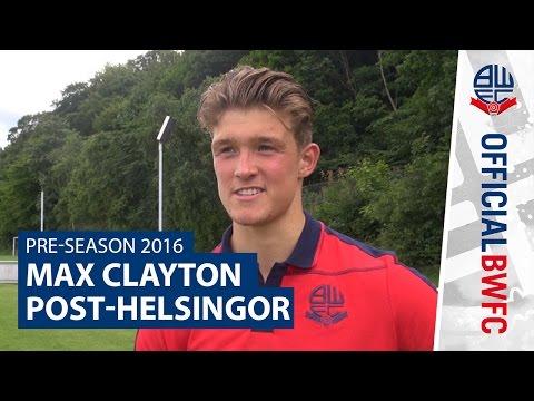 PRE-SEASON 2016 | Max Clayton post-Helsingor