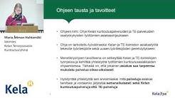Kela - TE-palvelu-ohjeen koulutustilaisuus 1.12.2015
