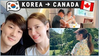 Our Long Flight | KOREA to CANADA ✈️국제커플 한국에서 캐나다로 장거리 비행!