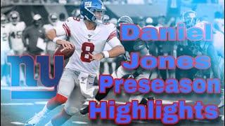 Daniel Jones Preseason Highlights  || Hype Highlights ||