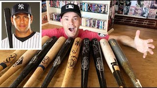 My baseball bat collection -- game-used, signed by A-Rod, and more!