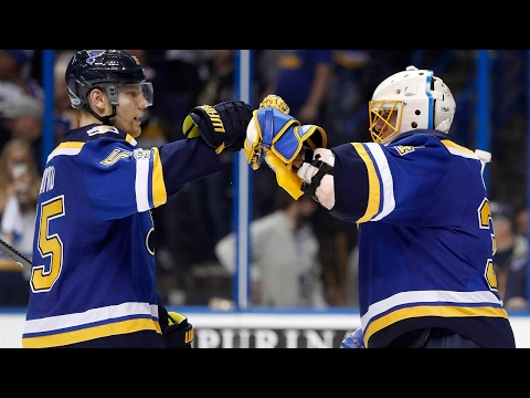 Allen stops 40 to leads Blues to 3-0 series lead over Wild