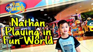 Nathan Playing in Fun world