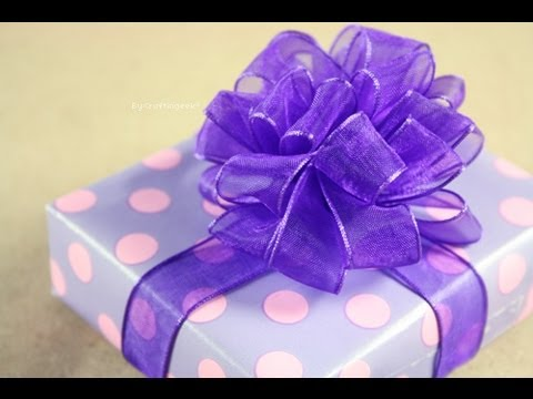 Moño Pom Pom Puffy How To Gift Bows Youtube
