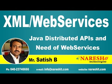 Java Distributed APIs and Need of Web Services | XML Tutorial | Mr. Satish B