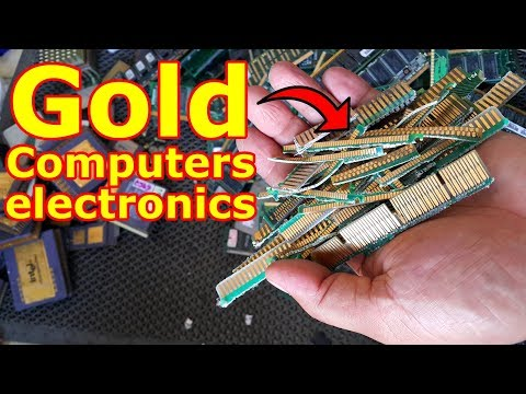 How To Way To Cut Gold From Computers Parts And Electronics E-waste RAM Circuits Board Fingers.
