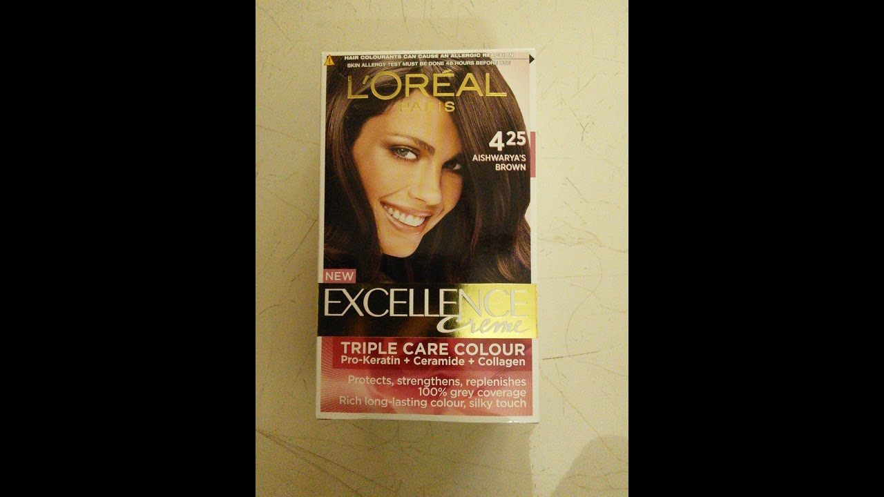 L oreal paris excellence cream hair colour no 425 aishwarya s brown step by step method youtube