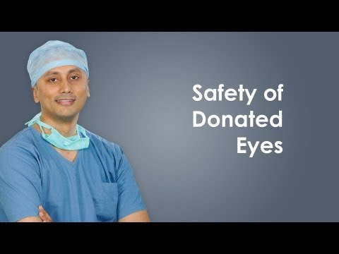 How to keep donated eyes safely?