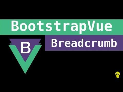 Como utilizar o breadcrumb do BootstrapVue