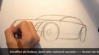 How to draw a Car - Tutorial in Steps Vol. 1