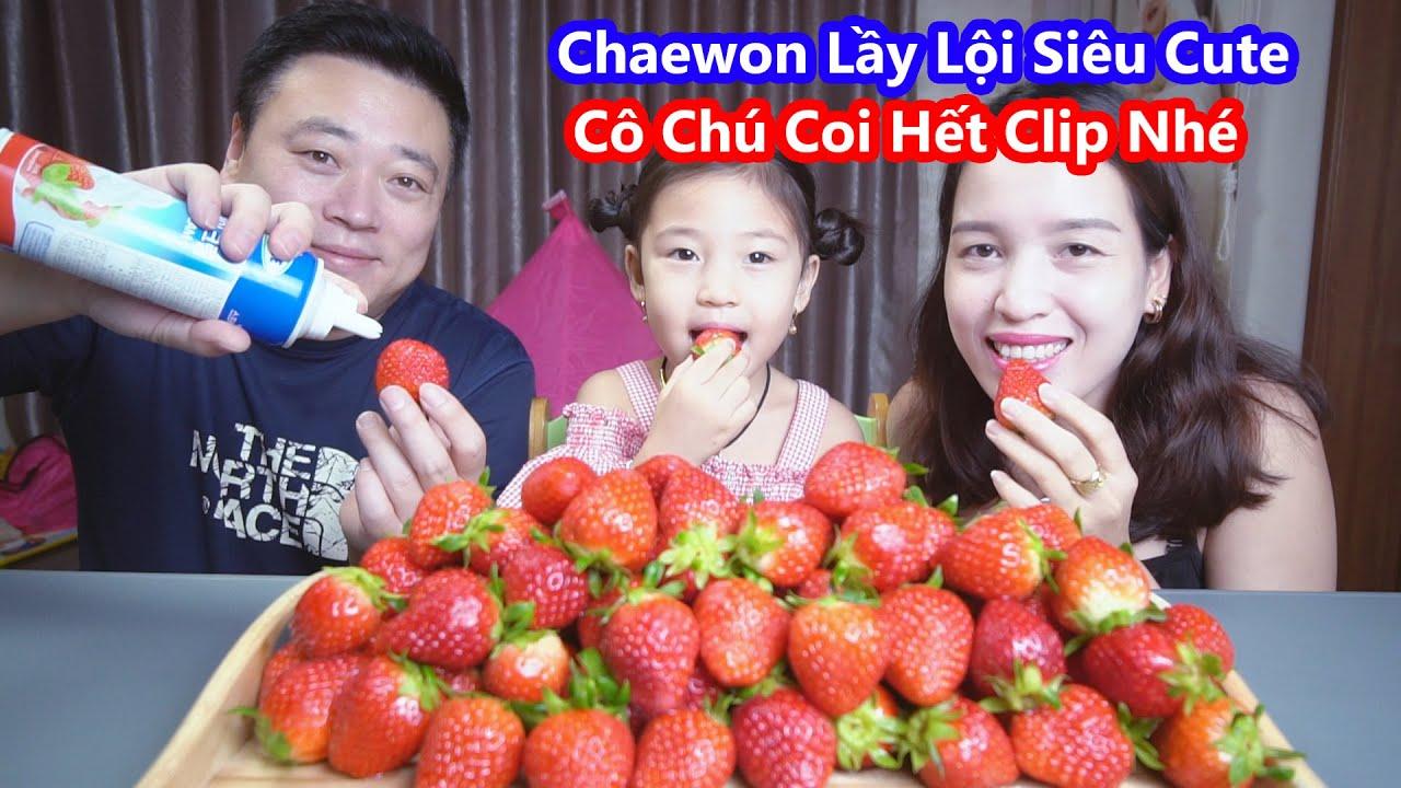 Lần Đầu Ăn Dâu Tây Chấm Sữa Đặc Chaewon Hài Hước Cười Đau Bụng 😄 (Strawberry) [Cuộc Sống Hàn Quốc]