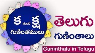తెలుగు గుణింతాలు (క - క్ష) #Guninthalu from ka to ksha in telugu guninthalu for children all