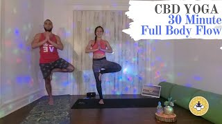 Restorative CBD Yoga, 30 Minute Full Body Flow