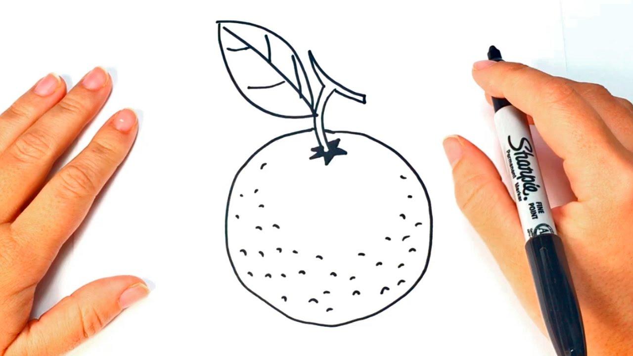 Cómo Dibujar Una Naranja Paso A Paso Dibujo Fácil De Naranja Youtube