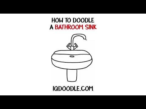 How to Draw a Bathroom Sink (drawing tips)
