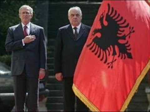 Bush In Albania Tirana