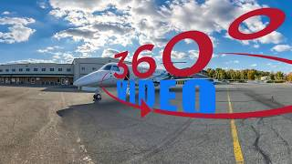 Jet The World Legacy 6550 private aircraft 360 video by 360sitevisit (2019)