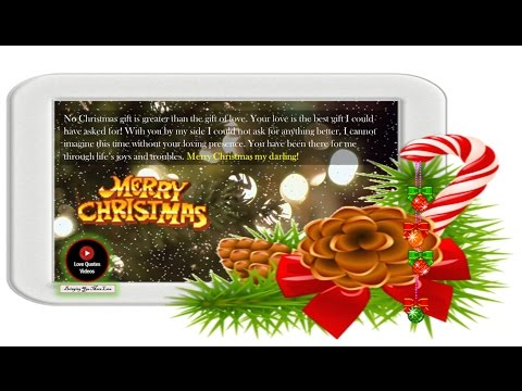 Christmas love quotes and wishes  -  love quotes for him -  Merry Christmas darling