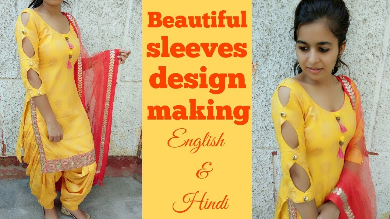 Image result for How to make beautiful sleeves design in very easy way