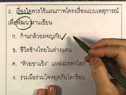 ข้อสอบO-NET ป.6 ปี2552 : ภาษาไทย ข้อ2