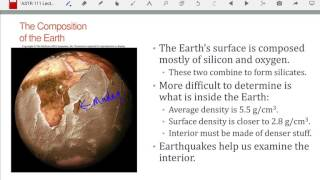ASTR 111 Lecture 16: Earth Geology