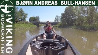 Canoeing up the Secret River - New Canoe - Old Town Saranac 146
