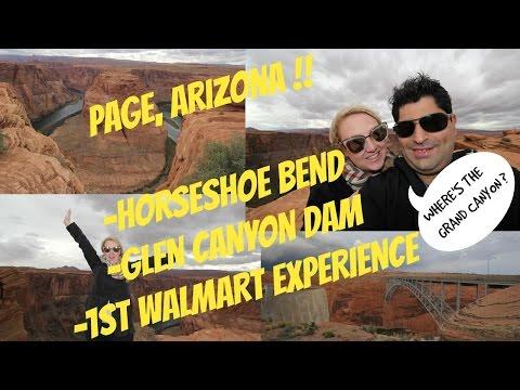 USA TRAVEL VLOG!! PAGE,ARIZONA- HORSESHOE BEND, GLEN CANYON DAM & WALMART !!!