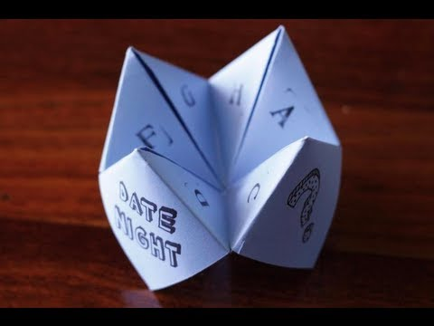 how to make an origami fortune teller youtube. Black Bedroom Furniture Sets. Home Design Ideas