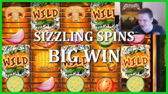 BIG WIN ON SIZZLING SPINS - NEW PLAY'N GO SLOT!!