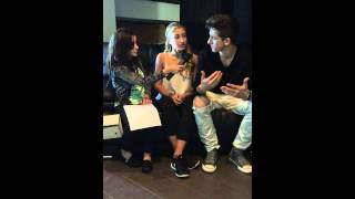 Hannah Alper from Call Me Hannah with Myles & Briar from The Next Step