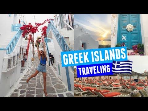WALKING AROUND THE GREEK ISLANDS | Mykonos Day 1!