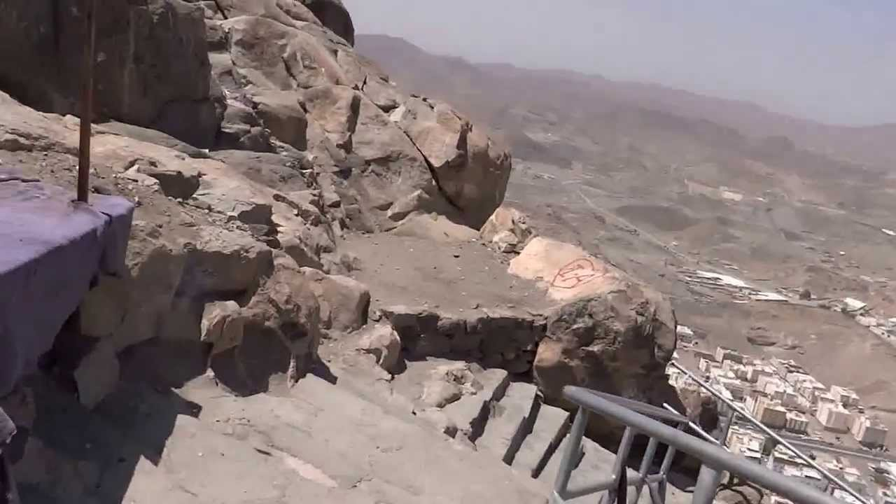 Return Stairs from Ghar-e-Hira jabl-e-noor on the mountain of Makkah 8  April 2013 in Saudi Arabia