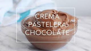 CREMA PASTELERA DE CHOCOLATE EN MICROONDAS MUY FÁCIL  | Las María Cocinillas