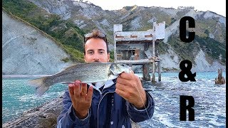 EPIC SEA FISHING DAY in a BEAUTIFUL scenery: Saddled Sea Breams and a SEA BASS C&R