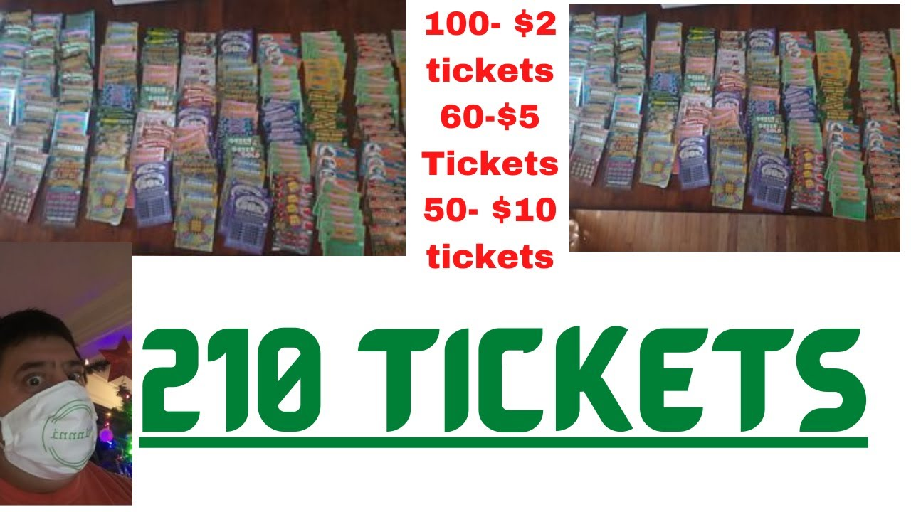 Mass Lottery Tickets- 210 of them!