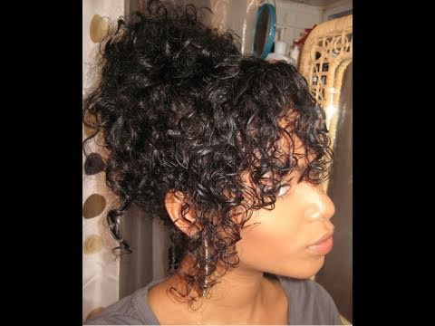 Natural Curly Hair Messy Bun My First Video Ever Youtube
