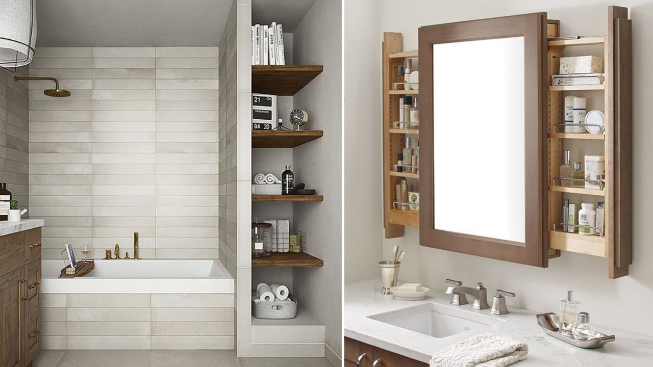 150 Small Bathroom Wall Shelves Designs