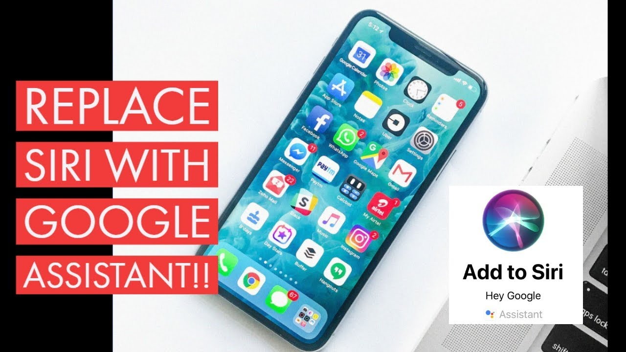 How To Replace Siri With NEW Google Assistant iOS 12 No Jailbreak!! (2018)