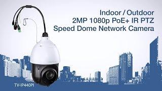 TRENDnet Indoor/Outdoor 2MP 1080p PoE+ IR PTZ Speed Dome Network Camera Sample - TV-IP440PI