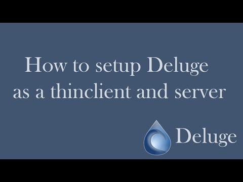 How to setup Deluge Thinclient and Server on Windows OS