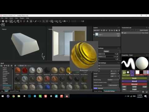 how Make Gold Bullion in Cinema 4D Substance Painter Upload in sketchfab export for Unity 3d
