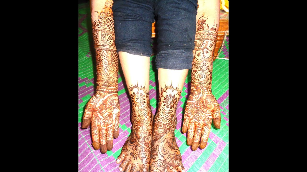 Leg Mehndi Designs Of Bridal : Bridal full hands legs mehndi design youtube