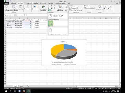 Как сделать круговую диаграмму в excel по данным таблицы