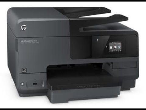 hp officejet pro 8710 all in one printer scanner copier fax youtube. Black Bedroom Furniture Sets. Home Design Ideas